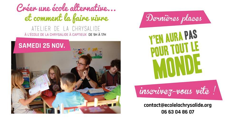"""Atelier """"Créer une école alternative"""""""